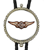 Harley Davidson With Wings Bolo Tie