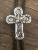 Horseshoe Cross with Star Cross Bolo Tie