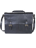 TWO GUSSET WORKBAG.  FLAP CLOSURE WITH QUICK RELEASE BUCKLES.  FRONT PANEL HAS FULL OPEN POCKET.  FRONT GUSSET PADDED FOR LAPTOP.  AND PADDED OPEN POCKET WITH VELCRO CLOSURE FOR TABLET.  REAR GUSSET HAS ZIP POCKET.  EXTERIOR REAR FULL ZIP POCKET.  RE