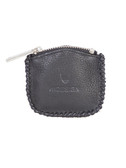 SMALL LEATHER COIN PURSE.  TOP ZIP CLOSURE.  SIDE DETAILED STITCHING.  EMBOSSED HIDESIGN LOGO.  IMPORT.