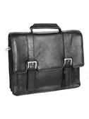 LAPTOP BRIEF.  ROOMY INTERIOR AND AN INTERNAL BUSINESS ORGANIZER.  COMES WITH A REMOVABLE SHOULDER STRAP.  QUICK RELEASE BUCKLE FLAP CLOSURE.  IMPORT.