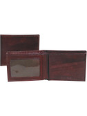 SLIM BILLFOLD W/ID WINDOW.  FOUR CREDIT CARD POCKETS.  TWO VERTICAL OPEN POCKETS.  IMPORT.