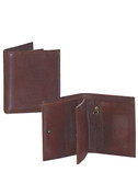 SLIM BILLFOLD W/ZIP COIN POUCH.  ID WINDOW.  FOUR CREDIT CARD POCKETS.  TWO VERTICAL OPEN POCKETS.  IMPORT.