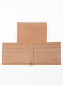 LEATHER BILLFOLD.  BILL DIVIDER.  CREDIT CARD POCKETS.  VERTICAL POCKETS.  IMPORT.