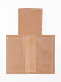 LEATHER BUSINESS CARD CASE.  2 OPEN POCKETS FOR BUSINESS CARDS OR CREDIT CARDS.  IMPORT.