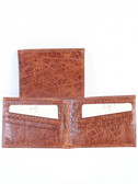 SLIM LEATHER BILLFOLD.  BILL DIVIDER.  CREDIT CARD POCKETS.  VERTICAL POCKETS.  IMPORT.
