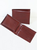 SLIM LEATHER BILLFOLD W/REMOVABLE CASE.  BILL DIVIDER.  CREDIT CARD POCKETS.  VERTICAL POCKETS.  OPEN POCKET.  REMOVABLE LEATHER PASS CASE.  IMPORT.