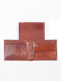 SLIM LEATHER BILLFOLD W/ID WINDOW.  BILL DIVIDER.  CREDIT CARD POCKETS.  VERTICAL POCKETS.  ID WINDOW.  IMPORT.