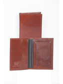 LEATHER BUSINESS CARD CASE W/ID WINDOW.  BUSINESS CARD POCKETS W/ID WINDOW.  IMPORT.