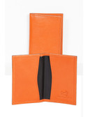 LEATHER BUSINESS CARD CASE.  BUSINESS CARD AND CREDIT CARD POCKETS.  IMPORT.