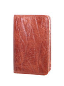 LEATHER PERSONAL NOTER.  2.75 INCH X 4.25 INCH RULED NOTEBOOK.  IMPORT.