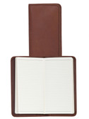 LEATHER POCKET NOTEBOOK.  3 INCH X 6 INCH RULED NOTEBOOK.  IMPORT.