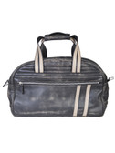 SANDED CALF DUFFLE BAG.  TWO EXTERIOR ZIPPER POCKETS.  INSIDE ZIP POCKET AND ORGANIZER.  DUAL CARRY HANDLES WITH A HANDLE WRAP.  REMOVABLE AND ADJUSTABLE SHOULDER STRAP.  IMPORT.