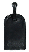 LEATHER LUGGAGE TAG.  LEATHER FLAP ID WINDOW.  BUCKLE STRAP.  IMPORT.