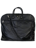 LEATHER GARMENT BAG.  FRONT ZIP.  VELCRO CLOSURES HOOK-AND-LOOP CLOSURES.  ZIP GARMENT SECTION 2 INSIDE ZIP POCKETS INSIDE MESH ZIP POCKET.  REMOVEABLE AND ADJUSTABLE SHOULDER STRAP.  IMPORT.