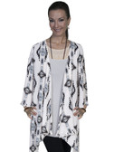 E111-IVO-MEDIUM SIZE  CASUAL AZTEC PRINT DUSTER.