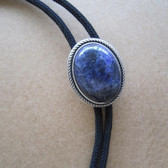 Natural Blue Plessite Stone With Oval Setting Vintage Silver Plated