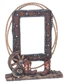5 x 7 Vintage Picture Frame with Boots and Wagon Wheel, Cowboy Hat