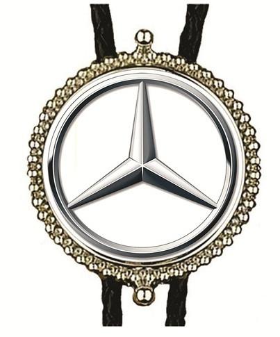 Mercedes Bolo Tie Vintage Small Sterling Silver Mercedes Benz Symbol Car Auto  Bolo Tie IC Lot 18