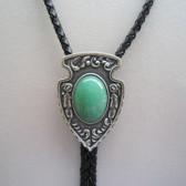 Green Aventurine Stone Bolo Tie