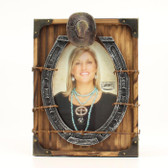 5 x 7 Western Horseshoe and Cowboy Hat Picture Frame