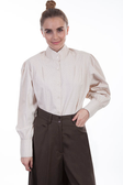 Natural Ranch Style Cotton Blouse