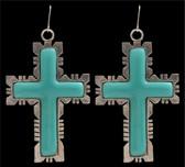 Angel Ranch Turquoise Cross Earrings