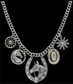 Silver Strike Western Charm Necklace