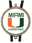 Miami Hurricanes Logo Bolo Tie