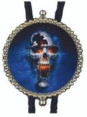 Happy Halloween Scary Skull Bolo Tie