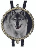 Wolf In The Snow Bolo Tie