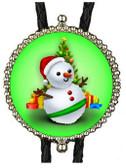 Christmas Snowman Bolo Tie