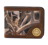 Ariat Western Mens Wallet Bifold Money Clip Bonz Shotgun Shell Camo