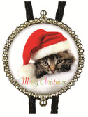 Merry Christmas Kitten Bolo Tie