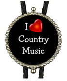 I Love Country Music Bolo Tie