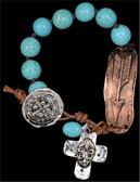 Silver Strike Copper Arrow Bracelet