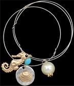 Silver Strike Silver & Gold Beach Charm Bracelet