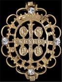 Silver Strike Gold St Benedict Medal Bracelet