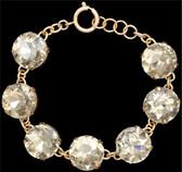 Silver Strike Gold Crystal Bracelet