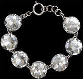 Silver Strike Clear Crystal Bracelet