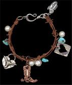 Justin Leather Charm Bracelet