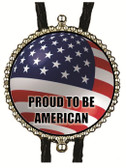 Proud To Be American (Flag) Bolo Tie