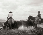 "Two Cowboys on a Cattle Drive (8 "" x 10"")"