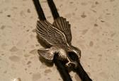 Western Style Silver Eagle Bolo Tie