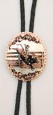 Copper Bullrider Bolo Tie Oval