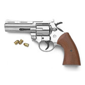 9mm Nickel Magnum Blank Firing Revolver