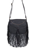 Soft Leather Fringe Handbag