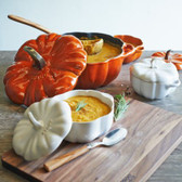 Butternut Squash & Apple Soup with Cider Cream