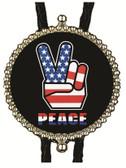 USA Peace Fingers Bolo Tie
