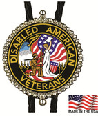 Disabled American Veterans (Military) Bolo Tie